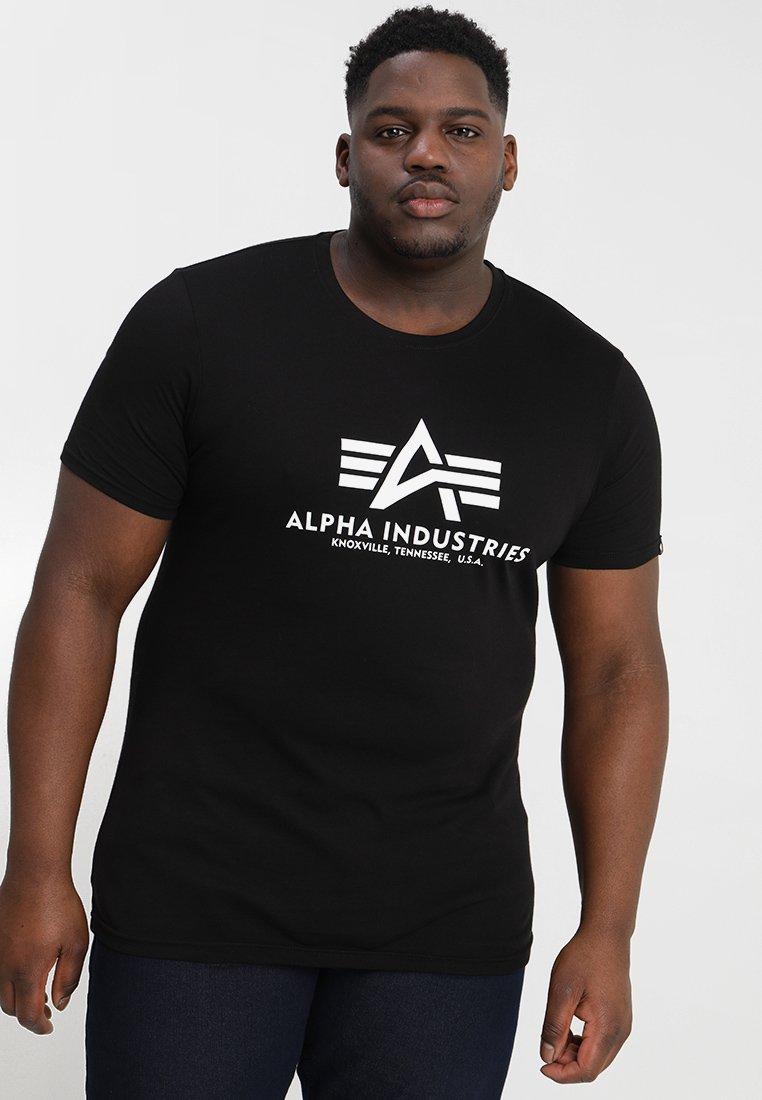 Alpha Industries - BASIC CAMO - Print T-shirt - black