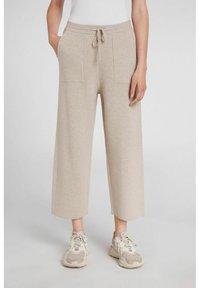 Oui - Trousers - light stone - 1