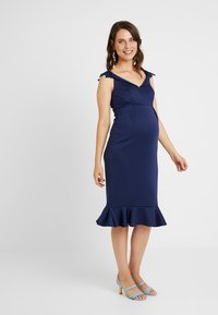 Chi Chi London Maternity - OAKLEE DRESS - Vestito estivo - blue - 0