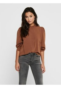 ONLY - Button-down blouse - tobacco brown - 0