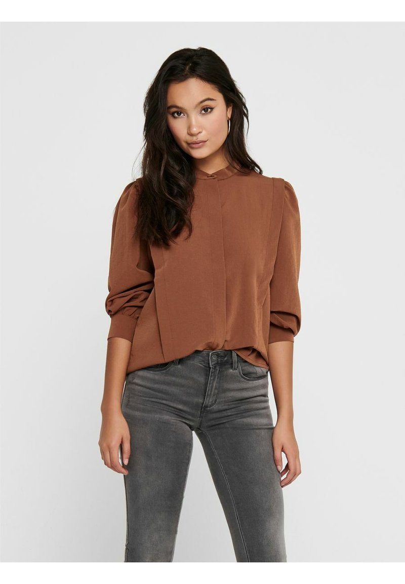 ONLY - Button-down blouse - tobacco brown