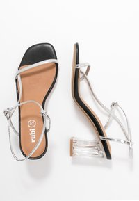 Rubi Shoes by Cotton On - HANNAH THIN STRAP HEEL - Sandály - silver - 3