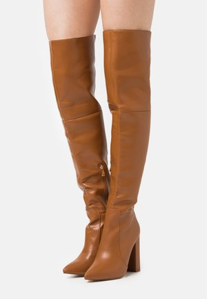 GRESHA - High Heel Stiefel - tan
