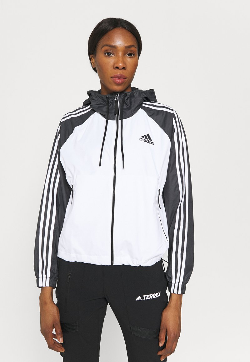 adidas Performance - STRIPES WINDBREAKER - Outdoor jacket - white/black
