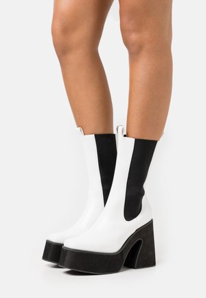 VEGAN - Kotníková obuv na vysokém podpatku - white