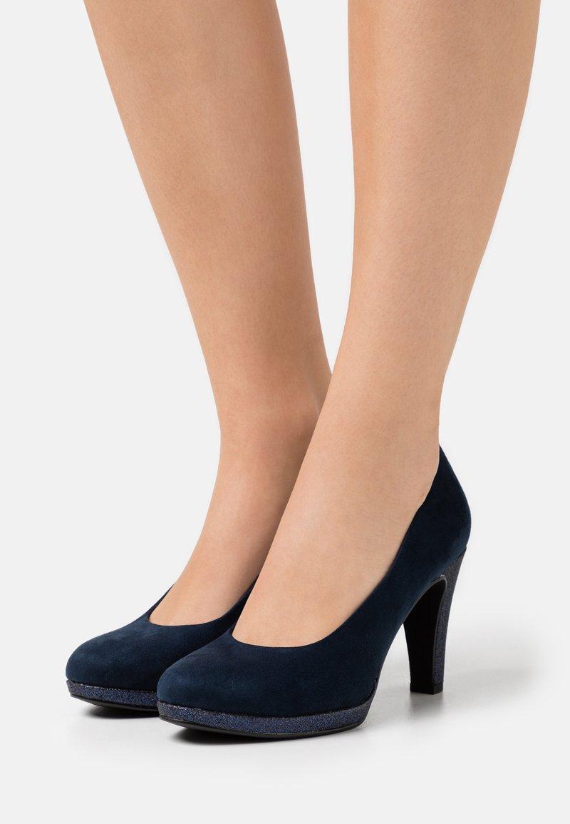Marco Tozzi - COURT SHOE - High heels - navy