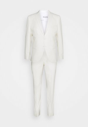 SLHSLIM MYLOLOGAN OFF SUIT SET - Kostym - egret
