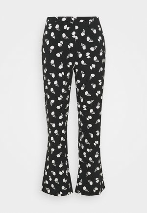 FLARE PANT - Trousers - black