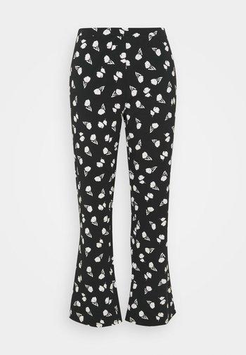 FLARE PANT - Trousers - black