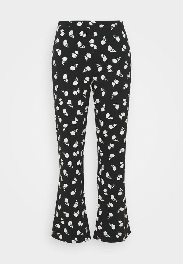 FLARE PANT - Bukser - black