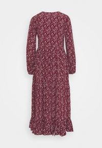 Glamorous - V NECK OVERSIZED MAXI DRESS - Maxi dress - maroon ditsy - 1