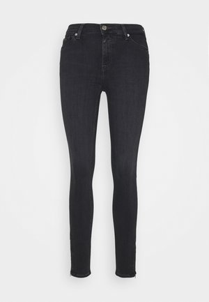 NORA ANKLE ZIP - Jeansy Skinny Fit - bird black stretch