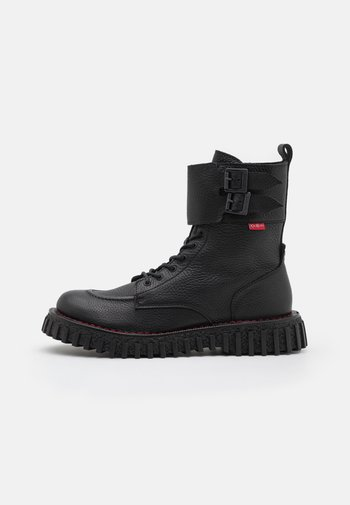 AKROPOL - Šněrovací kotníkové boty - noir
