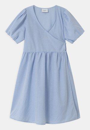 IDA WRAP  - Shirt dress - light blue