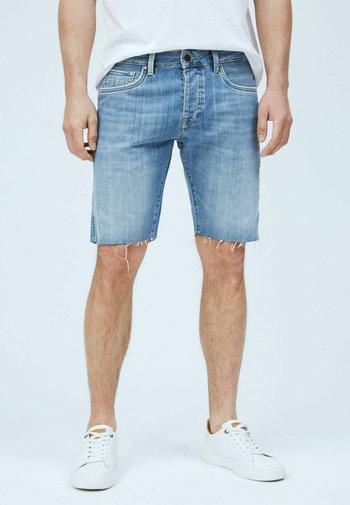 STANLEY BRIT - Denim shorts - blue