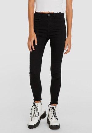 MIT HOHEM BUND UND RISSEN  - Jeans Skinny - black