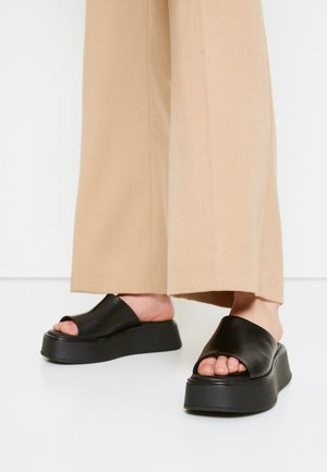 COURTNEY - Heeled mules - black