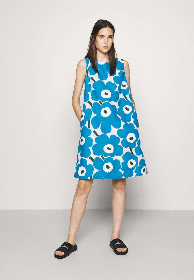 Marimekko - LAINEET PIENI UNIKKO DRESS - Vestido informal - blue/black/off-white