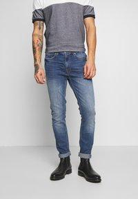 Burton Menswear London - ORGANIC - Slim fit jeans - mid blue - 0