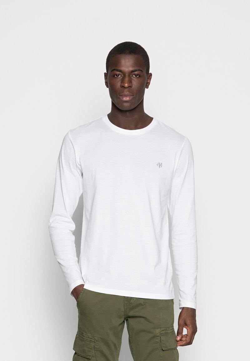 Marc O'Polo - LONG SLEEVE ROUND NECK - Långärmad tröja - white