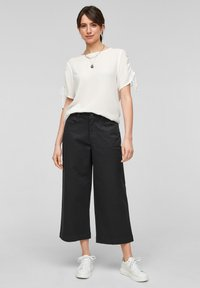 QS by s.Oliver - Flared Jeans - black - 1