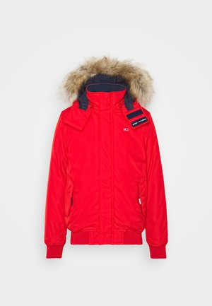 TECH BOMBER UNISEX - Winter jacket - deep crimson