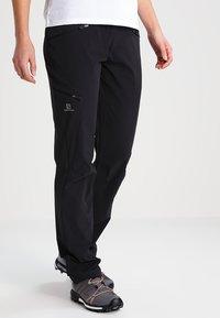 Salomon - WAYFARER - Trousers - black - 0