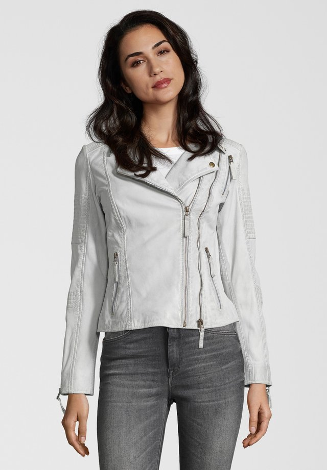 LEDERJACKE MUFFIN - Leather jacket - off white