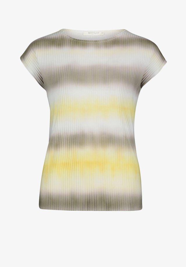 Print T-shirt - khaki/yellow