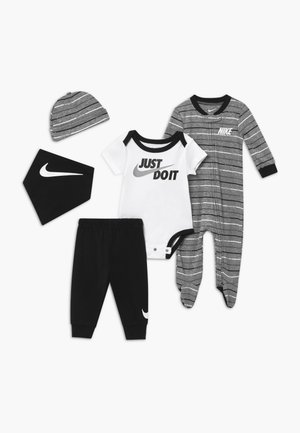STRIPE SET - Berretto - black