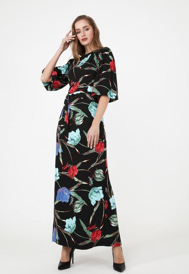 Robe longue - schwarz blau