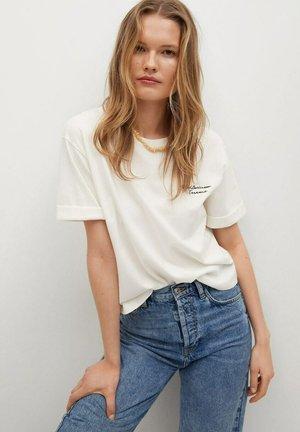PSTWASH1 - T-shirt print - gebroken wit