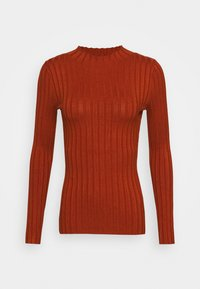Even&Odd - Wide rib jumper - Trui - brown - 4