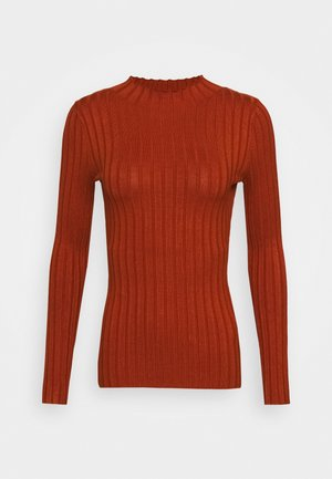 Wide rib jumper - Stickad tröja - brown