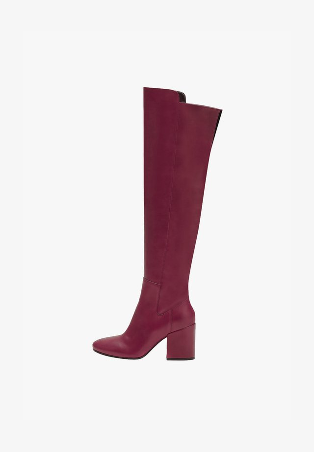 GWEN - High heeled boots - red