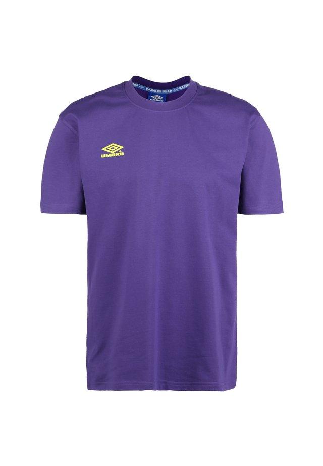 CLASSICO 2 CREW  - Print T-shirt - heliotrope / safety yellow