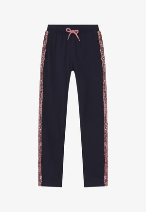 KIDS SEQUIN SIDE STRIPE - Tracksuit bottoms - nachtblau