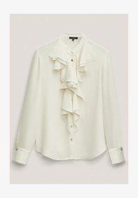 Massimo Dutti - MIT VOLANTS  - Button-down blouse - white - 2