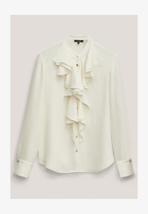 MIT VOLANTS  - Button-down blouse - white