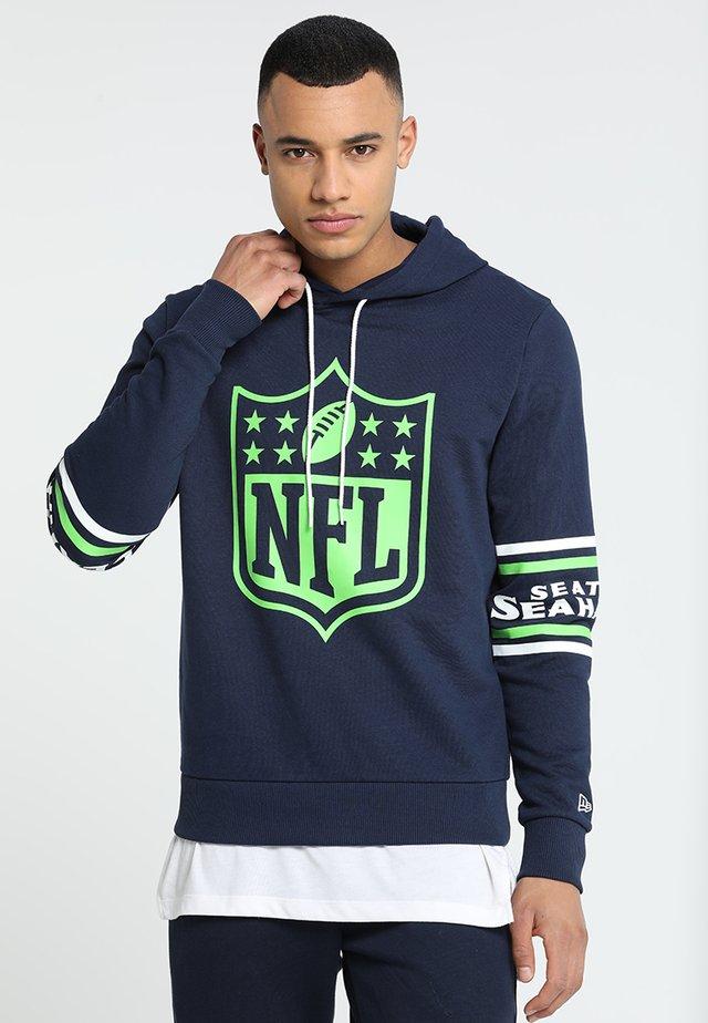 NFL BADGE HOODY - Club wear - dark blue