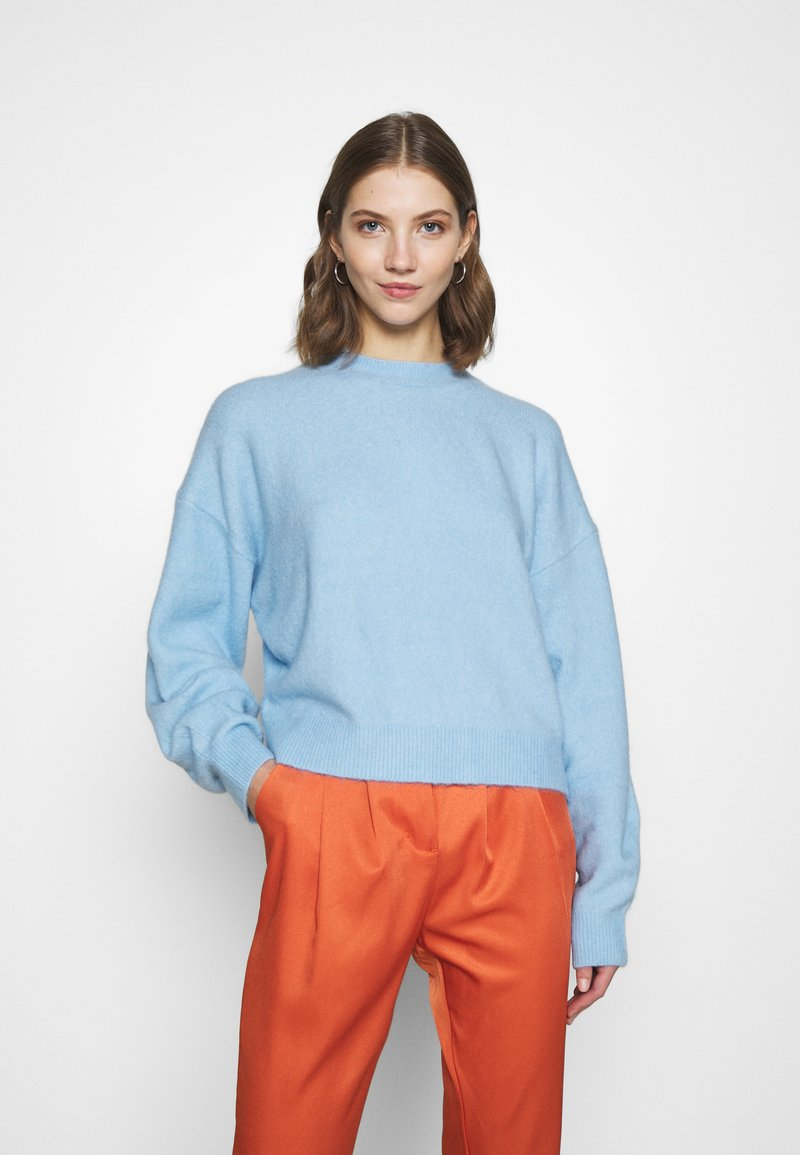 Weekday - AGGIE  - Sweter - light blue