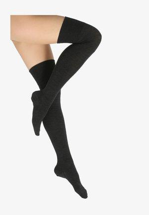FALKE Striggings Overknees - Over-the-knee socks - anthrazit