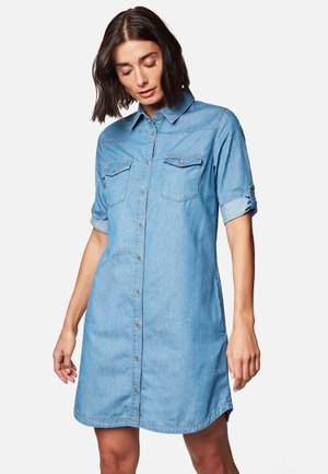 BREE - Denim dress - mid indigo denim