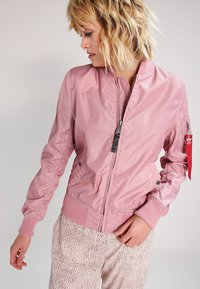 Alpha Industries - Bomber Jacket - silver pink - 0