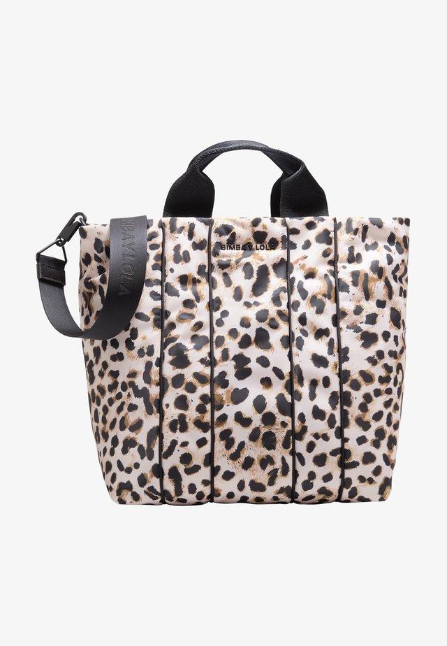 Shopper - leopard natural