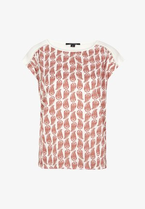 SHIRT IM FABRIC-MIX - Print T-shirt - powder minimal paisley
