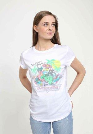 MARVEL VACAY AVENGERS - Print T-shirt - white