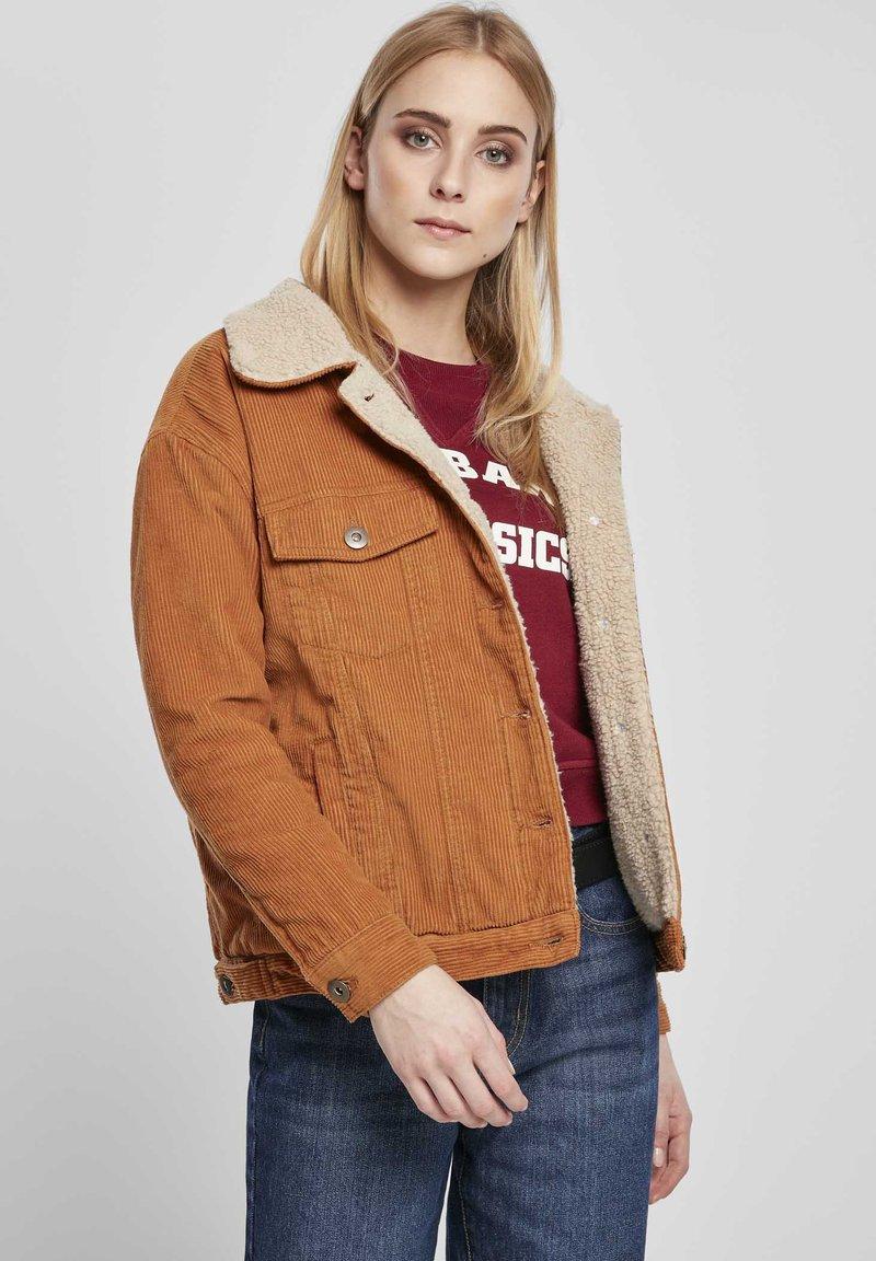 Urban Classics Curvy - Light jacket - toffee/beige