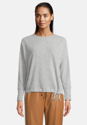 MIT U-BOOT-AUSSCHNITT - Sweatshirt - middle silver melange
