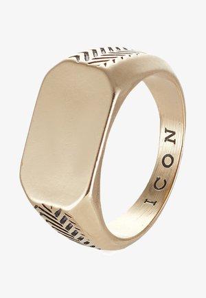 HERRING BONE SIGNET - Ring - gold-coloured